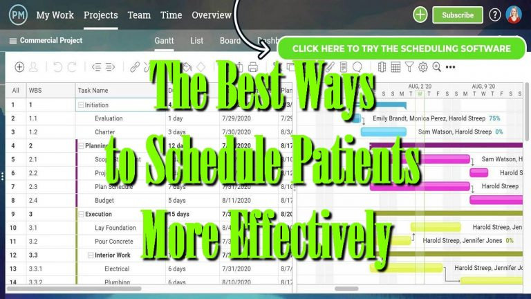 The Best Ways to Schedule Patients More Effectively